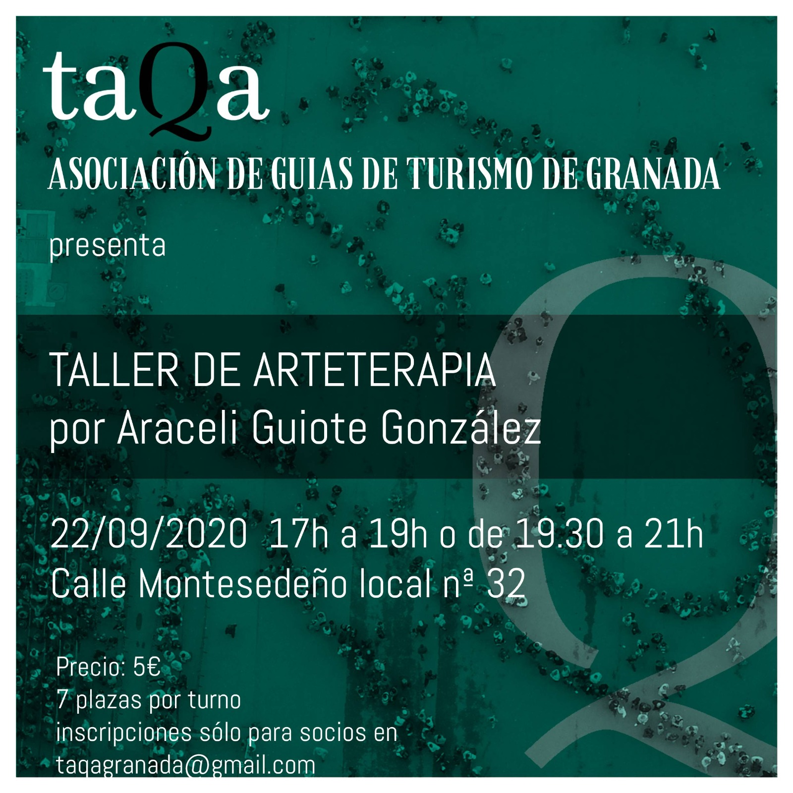 ARTETERAPIA Y TAQA (ASOCIACIÓN DE GUÍAS DE TURISMO DE GRANADA)